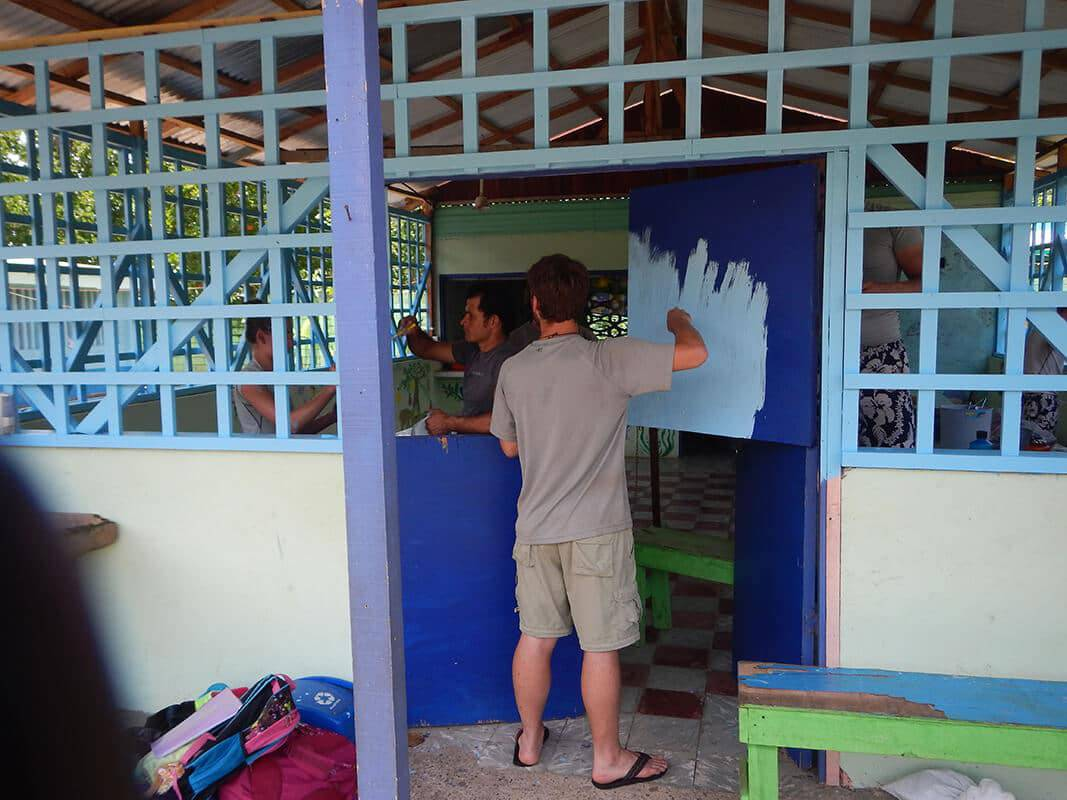 Students painting - Pure Life Adventure in Costa Rica