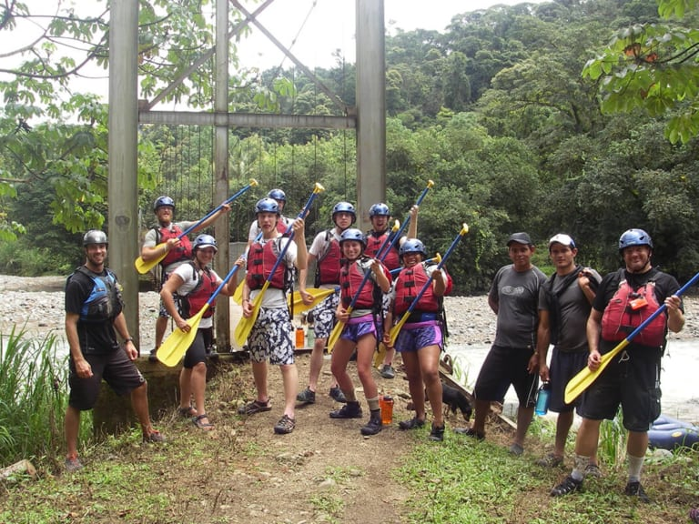 Young adults rafting - Pure Life Adventure in Costa Rica