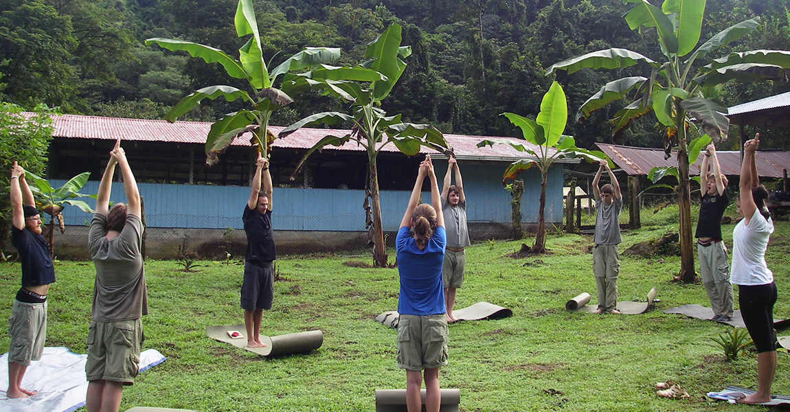 Health and Wellness Yoga during Pure Life Adventure Therapy. Wilderness Therapy for young adults.