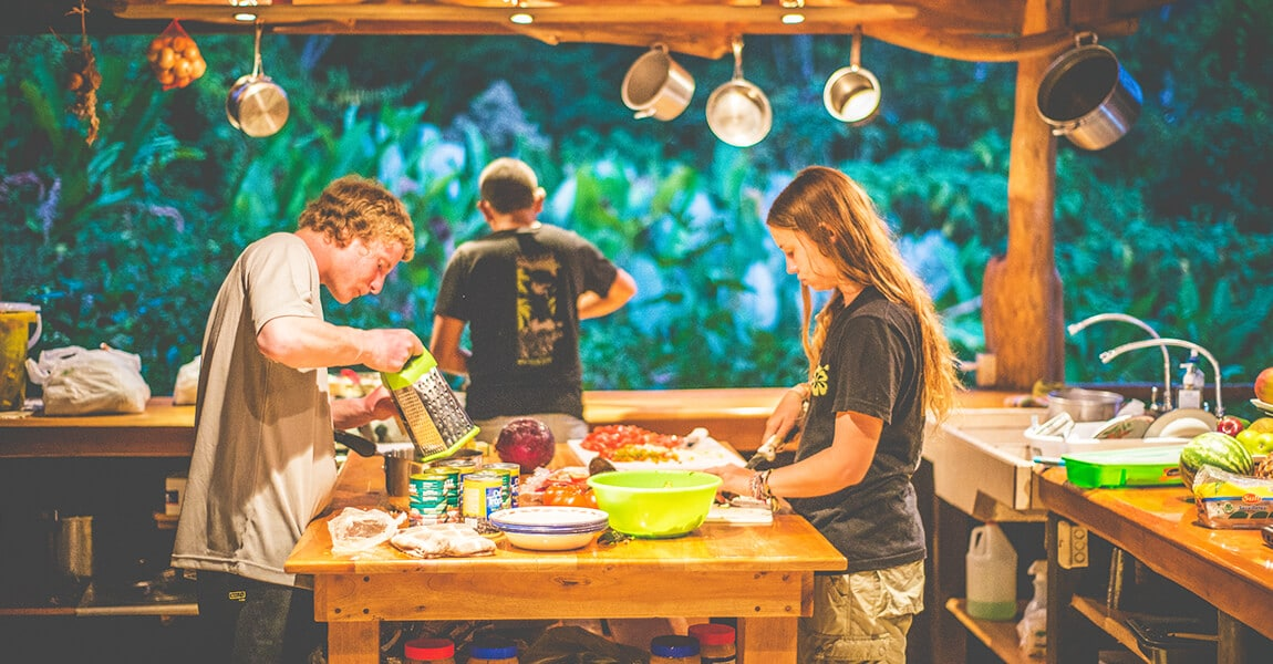 Health and Wellness Cooking during Pure Life Adventure Therapy. Wilderness Therapy for young adults.