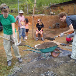 Young adults building. Wilderness and Adventure Therapy for Young Adults. Pure Life in Costa Rica.