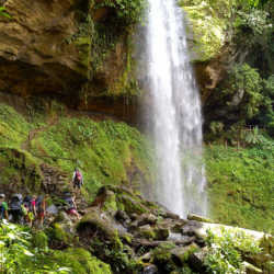 Waterfall. Wilderness and Adventure Therapy for Young Adults. Pure Life in Costa Rica.
