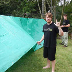 Students camping. Wilderness and Adventure Therapy for Young Adults. Pure Life in Costa Rica.