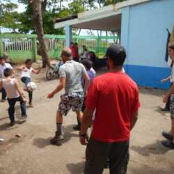 Students playing soccer. Wilderness and Adventure Therapy for Young Adults. Pure Life in Costa Rica.
