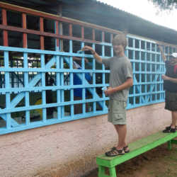 Student painting. Wilderness and Adventure Therapy for Young Adults. Pure Life in Costa Rica.