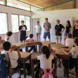 Students in classroom. Wilderness and Adventure Therapy for Young Adults. Pure Life in Costa Rica.