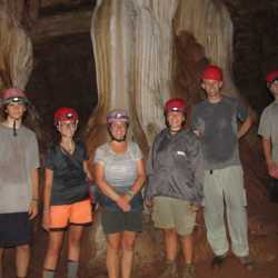 Students exploring cave. Wilderness and Adventure Therapy for Young Adults. Pure Life in Costa Rica.