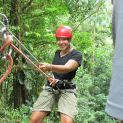 Student smiling. Wilderness and Adventure Therapy for Young Adults. Pure Life in Costa Rica.