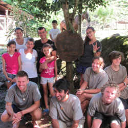 Students posting for picture. Wilderness and Adventure Therapy for Young Adults. Pure Life in Costa Rica.