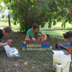 Young adults painting. Wilderness and Adventure Therapy for Young Adults. Pure Life in Costa Rica.