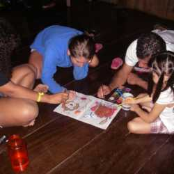 Students coloring. Wilderness and Adventure Therapy for Young Adults. Pure Life in Costa Rica.