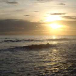 Ocean sunset. Wilderness and Adventure Therapy for Young Adults. Pure Life in Costa Rica.