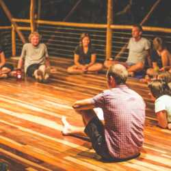 Young adult circle. Wilderness and Adventure Therapy for Young Adults. Pure Life in Costa Rica.