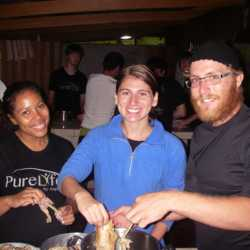 Young adults cooking. Wilderness and Adventure Therapy for Young Adults. Pure Life in Costa Rica.