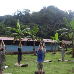Young adults exercising. Wilderness and Adventure Therapy for Young Adults. Pure Life in Costa Rica.
