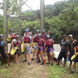 Young adults rafting. Wilderness and Adventure Therapy for Young Adults. Pure Life in Costa Rica.