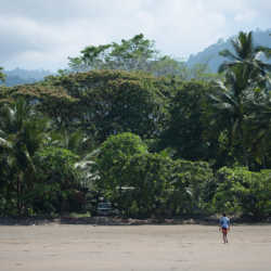 Student on beach. Wilderness and Adventure Therapy for Young Adults. Pure Life in Costa Rica.