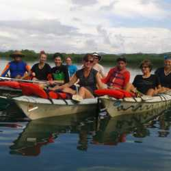 Students kayaking. Wilderness and Adventure Therapy for Young Adults. Pure Life in Costa Rica.