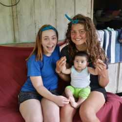Students and baby. Wilderness and Adventure Therapy for Young Adults. Pure Life in Costa Rica.