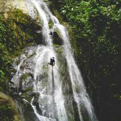 Waterfall view. Wilderness and Adventure Therapy for Young Adults. Pure Life in Costa Rica.