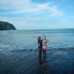 Students in water. Wilderness and Adventure Therapy for Young Adults. Pure Life in Costa Rica.