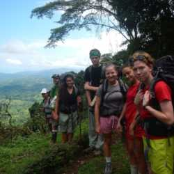 Young adults hiking. Wilderness and Adventure Therapy for Young Adults. Pure Life in Costa Rica.