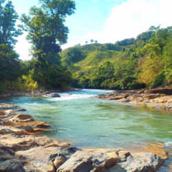River. Students hanging out at base camp. Wilderness and Adventure Therapy for Young Adults. Pure Life in Costa Rica.