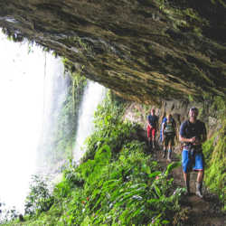 Waterfall hiking. Wilderness and Adventure Therapy for Young Adults. Pure Life in Costa Rica.